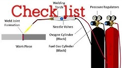Gas cutting set inspection