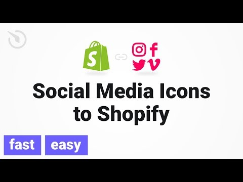 How to add Social Media Icons to Shopify in 2 minutes (2019) - YouTube