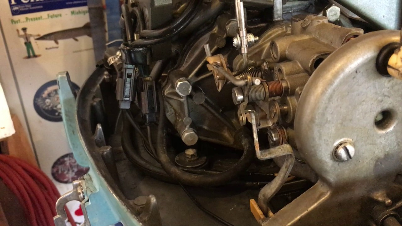 1973 Evinrude 25 Hp Outboard motor not Running At Full power