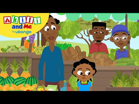 Akili and Friends at the Market | New Words with Akili and Me | African Educational Cartoons