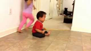 Baby got scared of remote control car