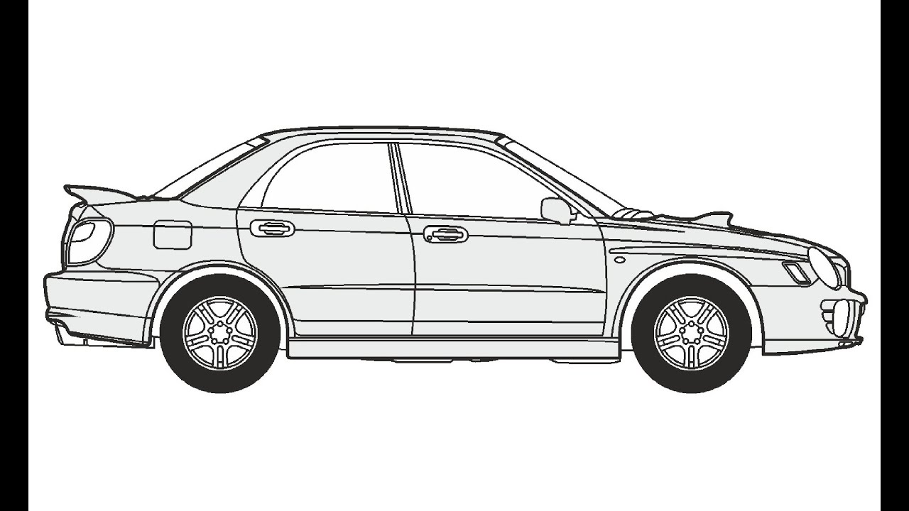 How to Draw a Subaru Impreza 4WD / Как нарисовать Subaru