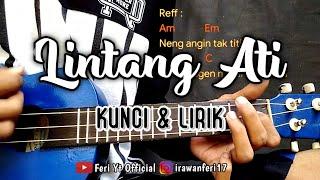 """Lintang Ati """"Titip Angin Kangen"""" (Kunci & Lirik) cover kentrung ukulele by Feri Yt Official"""
