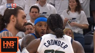 Carmelo Anthony & Jae Crowder Skirmish / Thunder vs Jazz Game 4