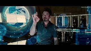 Ключ к Будущему Здесь. Тони Старк создаёт Новый Элемент | Железный человек 2 | 4K ULTRA HD