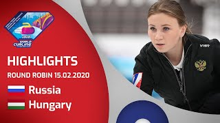 HIGHLIGHTS: Russia v Hungary - Women's round robin - World Junior Curling Championships 2020