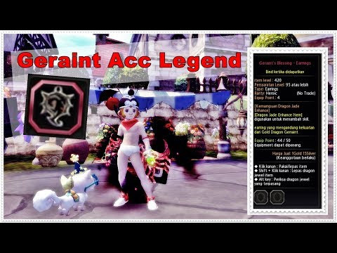 Craft Geraint Blessing Earring Legend - Dragon Nest INA