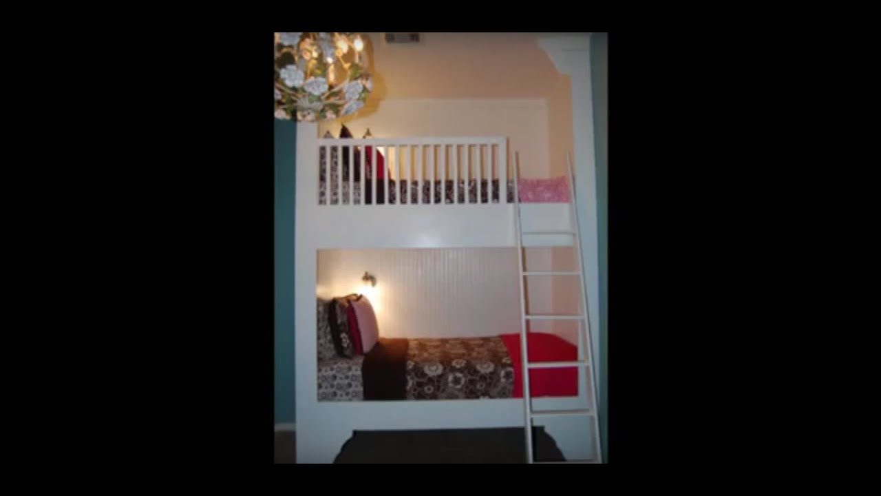 Built In Bunk Beds How To Build A Built In Bunk Beds Or Alter For Loft Bed Youtube