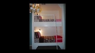 Step by step video on freeing up room space in a kids room with a built-in bunk bed. This short detailed video will show you how to