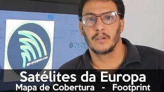 Captar Satélites da Europa no Brasil não é possível? Mapa de Cobertura - Footprint - GPSPezquiza