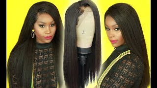 How to fool people into thinking you have natural long hair!! ft Alibele Kinky Straight Wig