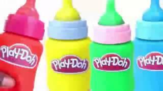 Play Doh membuat botol susu belajar warna