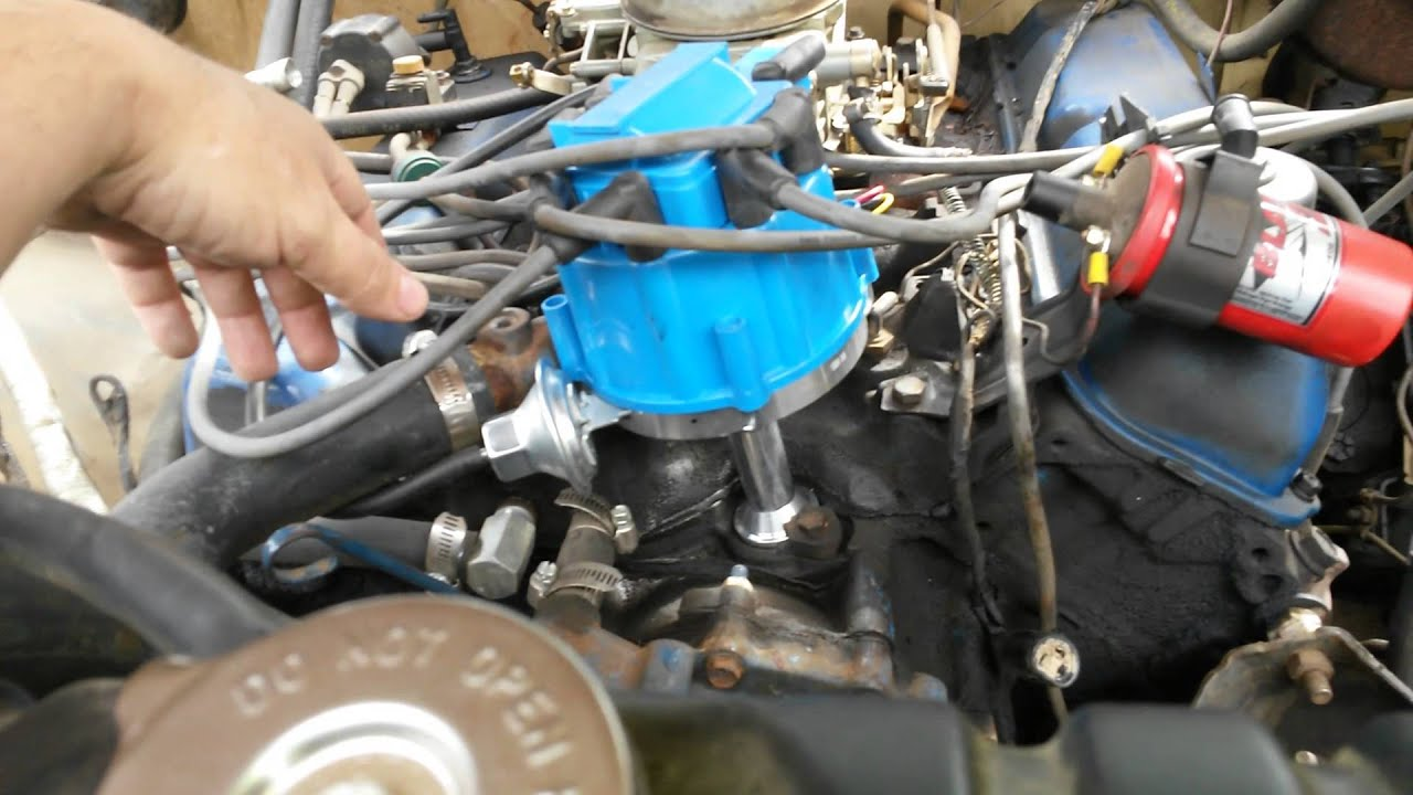 maxresdefault ford 460 hei swap 77 f350 part 1 youtube Ford Ignition Coil Wiring Diagram at alyssarenee.co