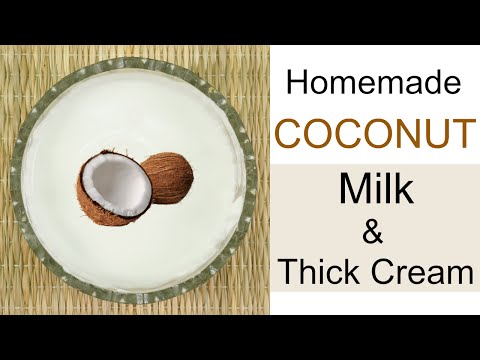 How to Make Coconut Milk & Cream At Home for Healthy Skin & Hair