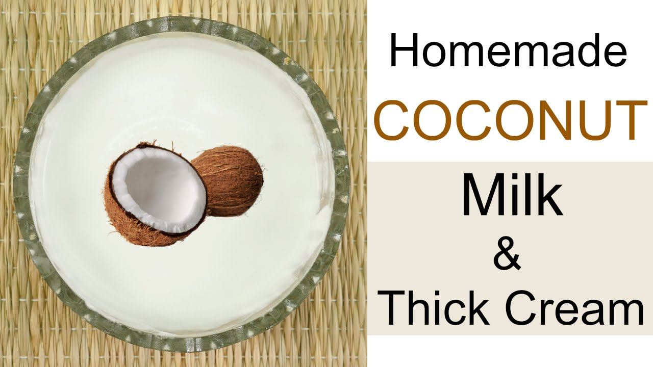 How to make coconut milk cream at home for hair