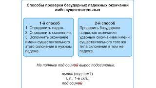 Правописание безударных падежных окончаний имен сущ в ед числе 1го ,2го и 3го склонения .