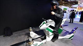 Воздушное такси, летающие мотоциклы и пожарные дроны на выставке в Дубае (новости)