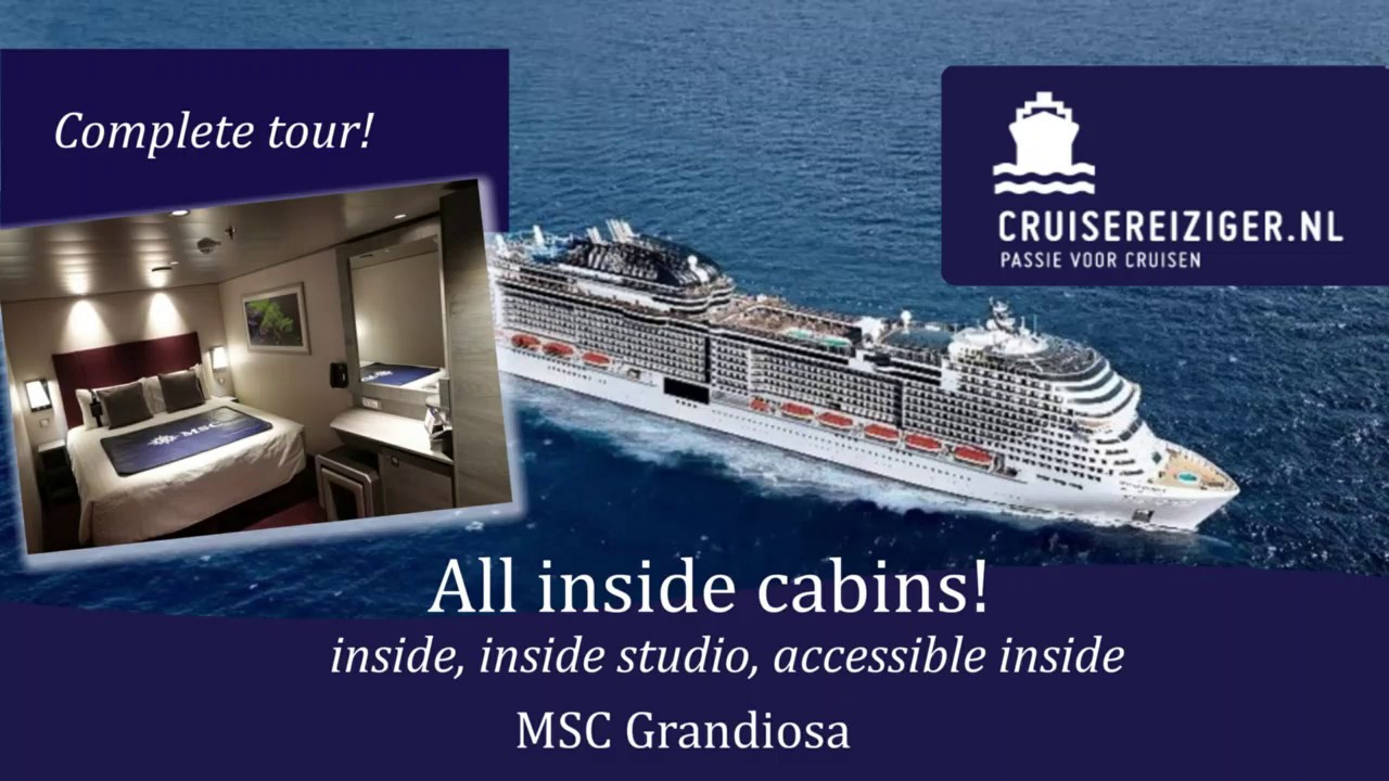 MSC Grandiosa - all interior cabins! Alle soorten ...