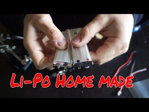 Li-Po battery home made assembling two lipo cell
