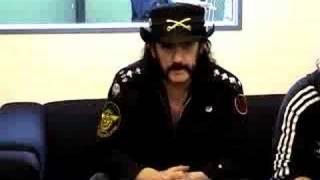 Lemmy Backstage at Download 2008