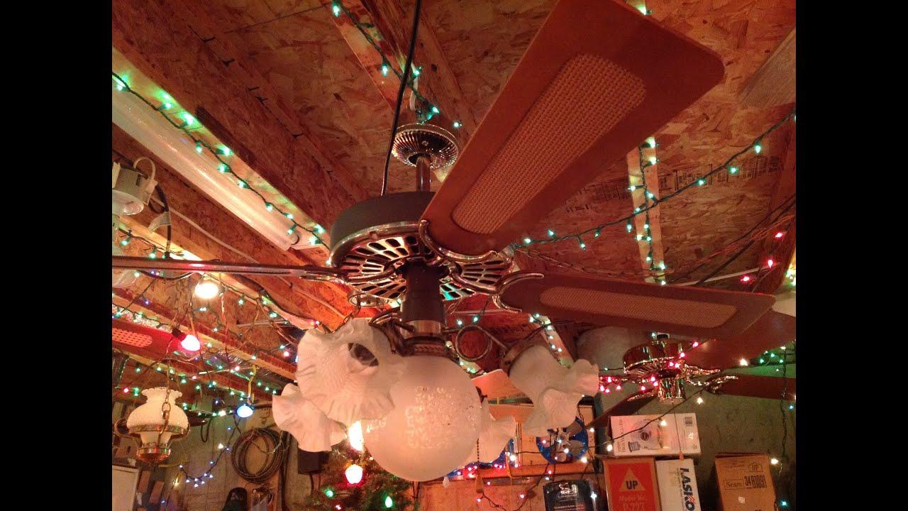 Vintage hunter original ceiling fan youtube vintage hunter original ceiling fan aloadofball Images