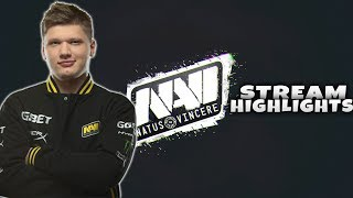 #CSGO - When s1mple streams #1 (  stream highlights, Funny moments, insane awp plays)