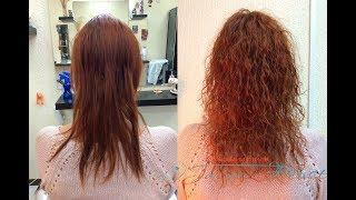 Карвинг на тонких прямых негустых волосах