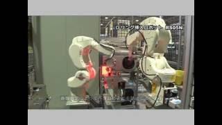 loading and unloading of valve plugs kawasaki rs005n robot