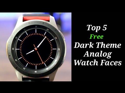 Top 5 FREE Galaxy Watch/Gear S3 Dark Theme Analog Watch Faces