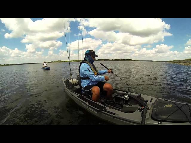 Topwater bass in the Native Watercraft Ultimate FX Propel