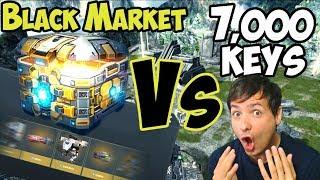 War Robots Unboxing - Manni Vs Black Market with 7,000 Keys