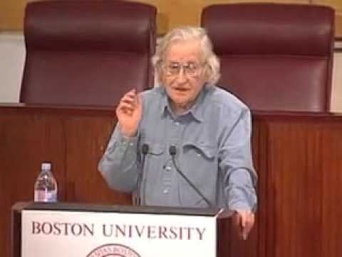 Noam Chomsky confronted by right wing twat