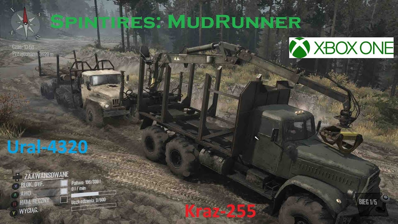 xbox one spintires mudrunner wyspa kraz 255 ural. Black Bedroom Furniture Sets. Home Design Ideas