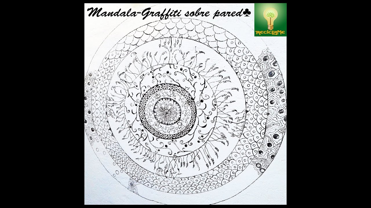 C mo dibujar un mandala graffiti sobre pared youtube - Como pintar dibujos en la pared ...