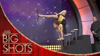 Girl Contortionist Uses Her Feet For Archery | Little Big Shots