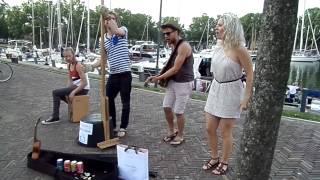 Vanilla Punch Op Terras In Enkhuizen Aan De Haven