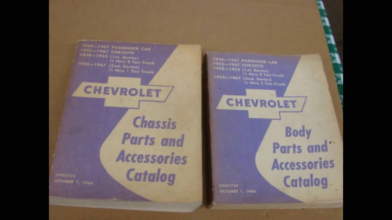 1967 Corvette Impala Truck Parts Book 427 Ss 396 1966 1965 1964 Chevy Accessories Catalogue