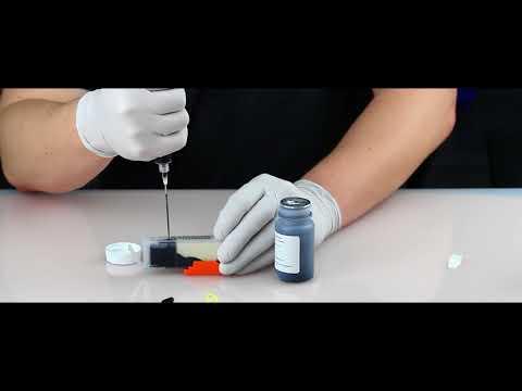 Refilling edible ink cartridges