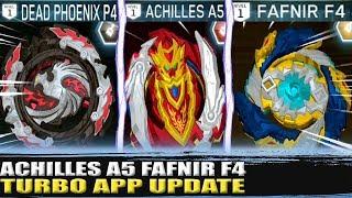 NOVO UPDATE ACHILLES A5 FAFNIR F4 DEAD PHOENIX BEYBLADE BURST APP ENGAARD E4 + NOVOS AVATARES!