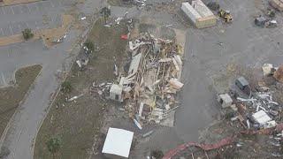 Damage at Tyndall Air Force Base from Hurricane Michael