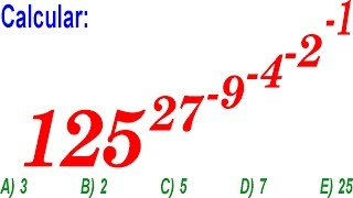 Leyes de Exponentes - Examen Ingreso a la Universidad - Nivel SAN MARCOS - Problema Resuelto