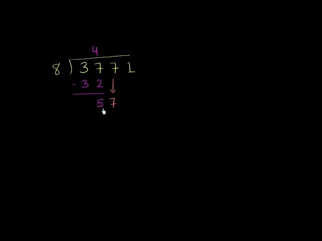 การหารจำนวน: ตัวอย่างที่มีเศษ | Dividing numbers: example with remainders