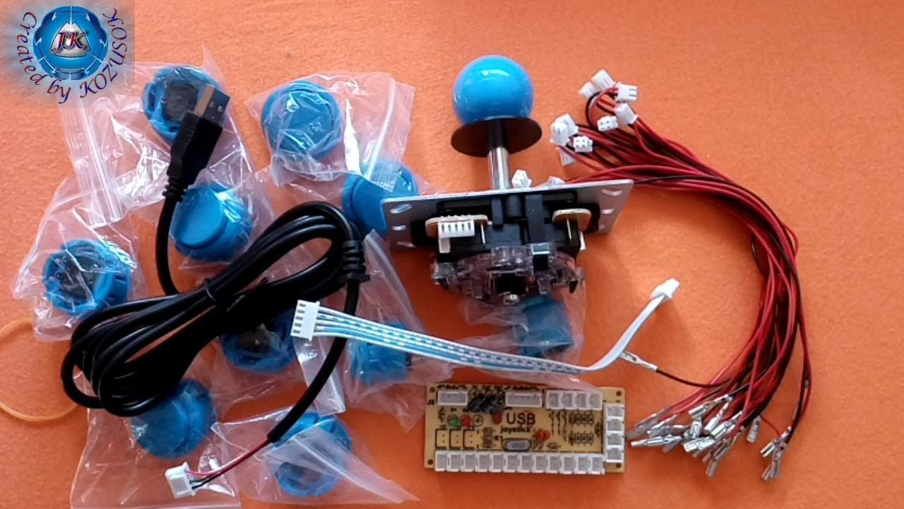 Zero Delay Arcade Game Controller USB Joystick Kit for MAME-Banggood.com
