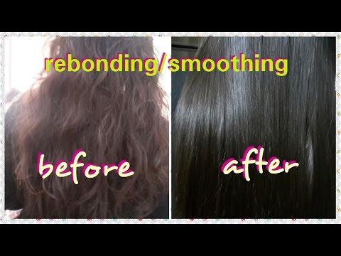 Rebonding/Smoothing-Step by Step-Permanent hair straightening-Done  professionaly-Easy To Learn
