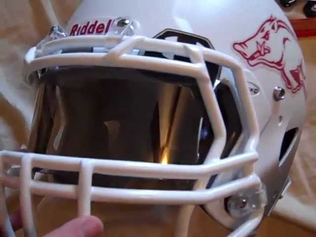 76f4c6156922 Under Armour Gray Mirrored Football Visor Unboxing - YouTube