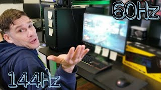 60Hz vs 144Hz Vs 120Hz | Testing Refresh Rate on an HP 25X Gaming Monitor