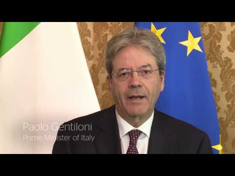 Paolo Gentiloni Congratulates 2017 Global Teacher Prize Winner