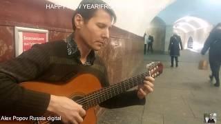 """Супер игра""""Hotel California"""" гитара Роман.Москва.Метро!Happy New 2019!"""