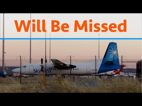 Goodbye Fokker 50's Perth - Skywest History, Flight Review