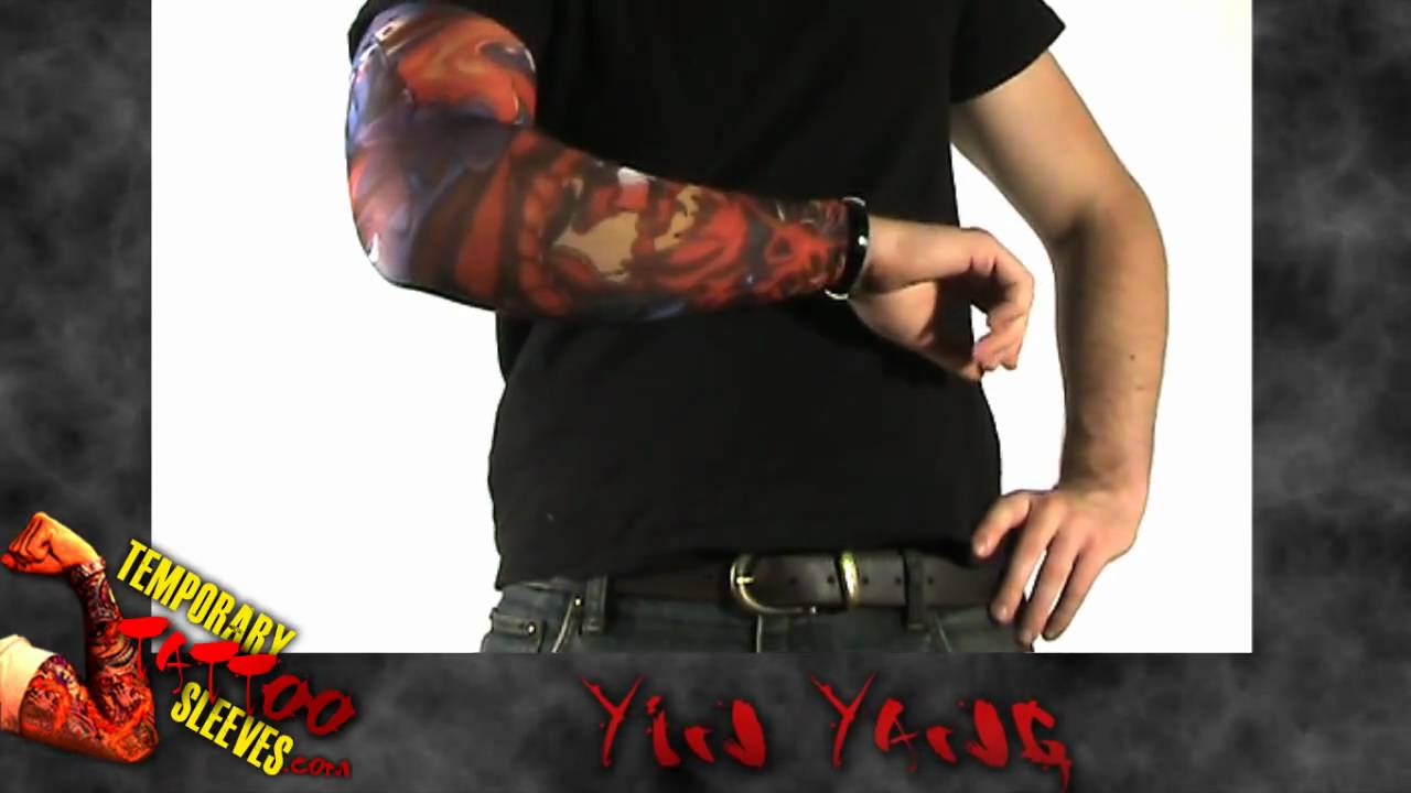 Yin Yang Fake Sleeve Tattoo Youtube
